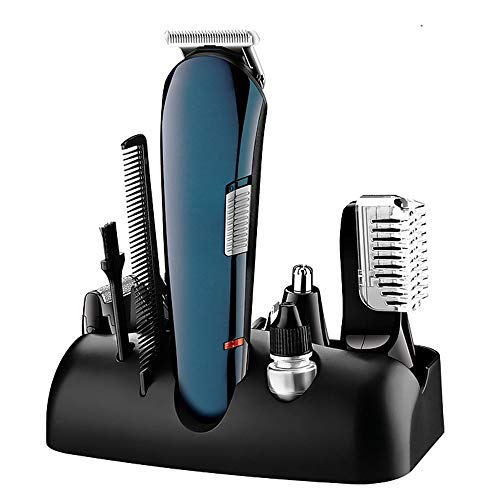 Hair Clippers Set voor mannen Geschikt voor reizen/thuisgebruik, USB oplaadbare professionele mannen Baardtrimmer Hair Clippers 5 in 1 multifunctionele, Light Noise