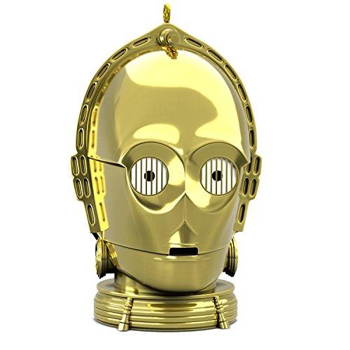 Hallmark Keepsake Christmas Ornament 2018 Year Dated, Star Wars C-3PO With Light and Sound