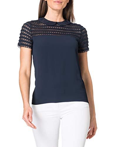 Naf Naf OMILO T2 Camiseta, Azul Marino, XL para Mujer