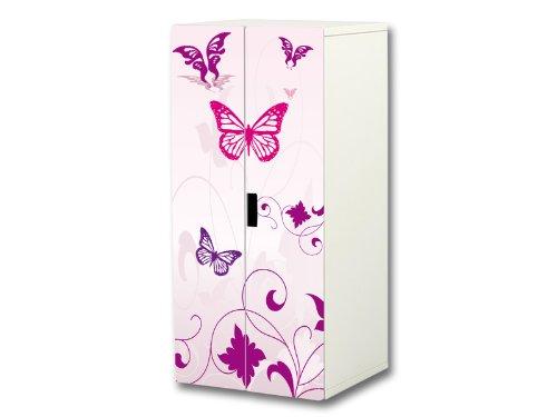 Mariposa pegatinas | SC16 | Adecuadas para el armario de niños STUVA de IKEA (corpus: 60 x 128cm) | (mueble no incluido) STIKKIPIX