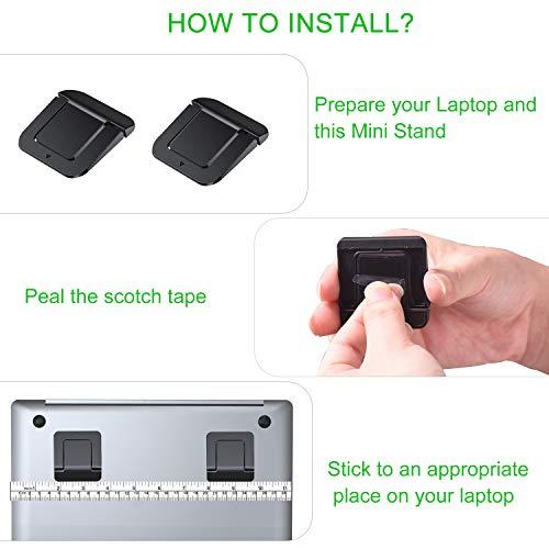 Laptop Stand, Tendak Invisible Notebook Stand Mini Laptop Ständer, Portable Table Laptop Holder Mount Kompatibel mit allen Laptops Tablets Apple MacBook,Lenovo,HP,Acer,Notebook und Tastatur (2 Stück)