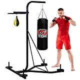 Senshi Japan XXL Heavy Punch Bag & Speed Ball Stand - The Ultimate Freestanding Frame Station- Solid Steel Platform, Comes With Punch Bag & Leather Speed Ball