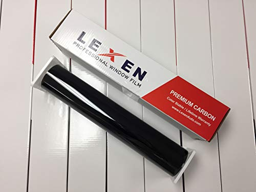"LEXEN 2Ply Premium Carbon 24"" X 100FT Roll Window Tint Film Auto Car (5% Limo (Darkest Shade))"