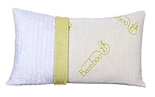 EVERGREENWEB - Cuscino Fiocco di Memory Foam con Fodera fibra di BAMBOO 42x72 Alto 15 cm Modello Saponetta Adatto per Dolori Cervicali, Federa Sfoderabile e Lavabile, Guanciali Cuscini Letto Antiacaro