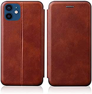 For Apple iPhone 11 6.1inch Flip Case Leather magnetic with card slot internal TPU cover - Brown