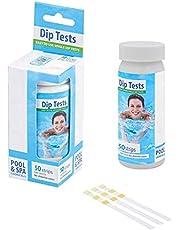 Linsition Zwembad- en spa-teststrips voor zwembadwater, 3-in-1 zwembadteststrip, pH-teststrips voor zwembaden, snelle en nauwkeurige resultaten