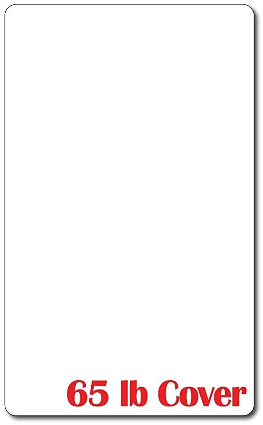 Cardstock with Rounded Corners - Bright White Cardstock - Legal Size (8 1/2 X 14 Inches) - 65lb Cover - Perfect for Documents, Programs, Menus, and More! (100 Sheets)