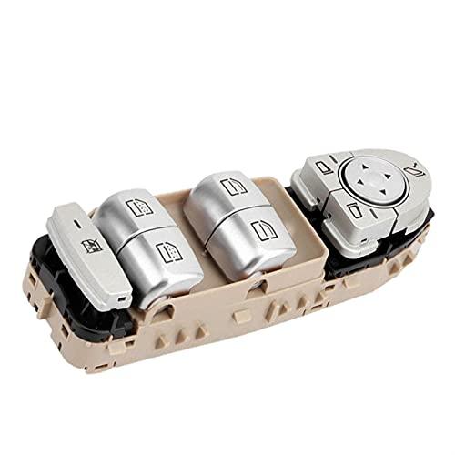 Qivor 2229056800 Interruptor de Ventana eléctrica de Nuevo Interruptor de Ventanas eléctricas para Mercedes-Benz W205 C180 C200 C300 2014-2018 (Color : Beige)