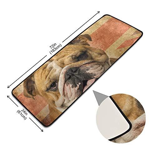 XiangHeFu Tapijt Een Engels Bulldog Panting Area Tapijt Niet Slip Deurmat Anti Skid Living Pads Vloer