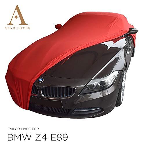 AUTOABDECKUNG ROT PASSEND FÜR BMW Z4 (E89) MIT SPIEGELTASCHEN GANZGARAGE INNEN SCHUTZHÜLLE ABDECKPLANE SCHUTZDECKE Cover