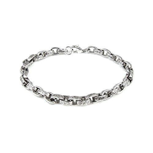 メンズ レディース ブランド SBG ペーパー チェーン ロゴ ブレスレット 銀 腕輪