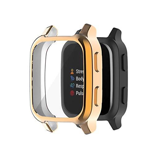 Uhrengehäuse-Abdeckung - Kompatibel mit Garmin Venu SQ, robuster, weicher TPU-Stoßfänger-Hohlschutz, Uhrengehäuse für Garmin Venu SQ Smartwatch