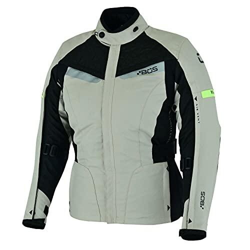 BOSmoto Motorradjacke -Unique- Motorrad Damen Wasserdicht Jacke mit Protektoren Sommer Winter Textil Frauen (XL)