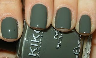 KIKO Nail lacquer Nagellack Nr. 348 Farbe: Khaki (Grau/Grün) Inhalt: 11ml Nail Polish