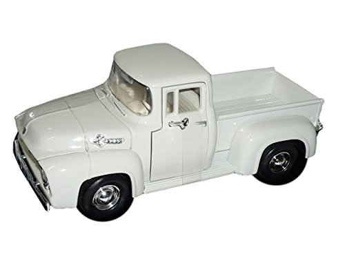 Motormax Ford F100 F-100 Weiss Pick-up Pickup 1956 Pritsche Oldtimer 1/24 Modellauto Modell Auto