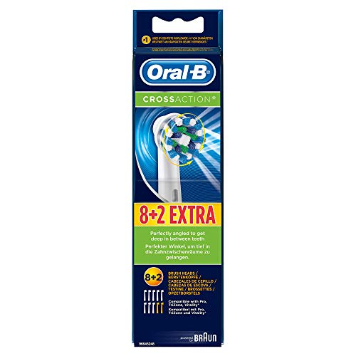 Oral-B CrossAction Toothbrush Pack Of 10 Replacement