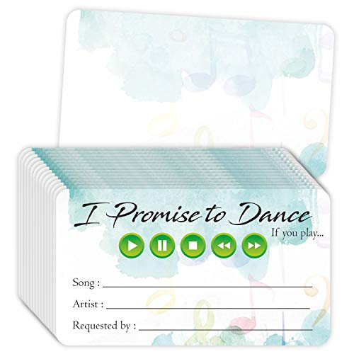 """Song Request Cards (Pack of 100) 3.5"""" x 2"""" for Wedding DJ Prom Dance Party Music Suggestion"""