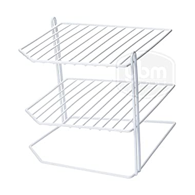 Ybmhome 3 Tier Corner Helper Shelf, White Organizer Free Standing Rack for Kitchen Counter Pantry Bathroom and Cupboards 2215 (1)