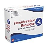 Dynarex Adhesive Fabric Bandage, 1 Inches X 3 Inches Sterile, 100...