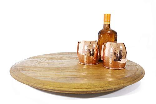 oak wine barrel table - 7