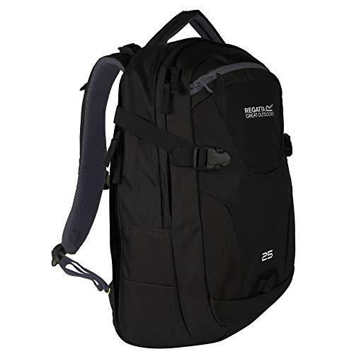 Regatta Paladen Hardwearing Padded Travel Laptop Bag Backpack - Black/Ebony, 25 Litre