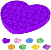 Partilandia Pop Juguetes Antiestrés Sensorial Niños Adultos Silicona Juego Push Pop Bubble Fidget Toy [Forma Círculo...