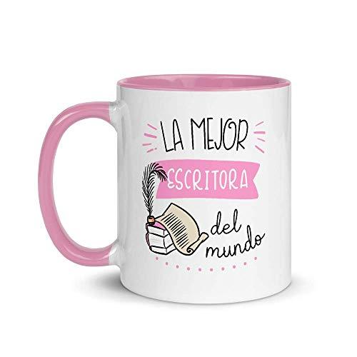 Kembilove. Tazas Desayuno Originales de Profesiones para Regalar a Trabajadores – Taza de Café de la Mejor Escritora del Mundo – Tazas con Frases Divertidas 100 Modelos de Profesiones