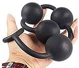 LKC Schwarz Neuheiten Anfänger spielen 4 Perlen Flexible Körper Safe - Real Feel - Role Play...