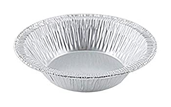 Small Mini Aluminum Foil Disposable Baking Tart Pans - 3 3/8 inches Pie Tins for Hot and Cold Foods Made in USA  Pack of 100