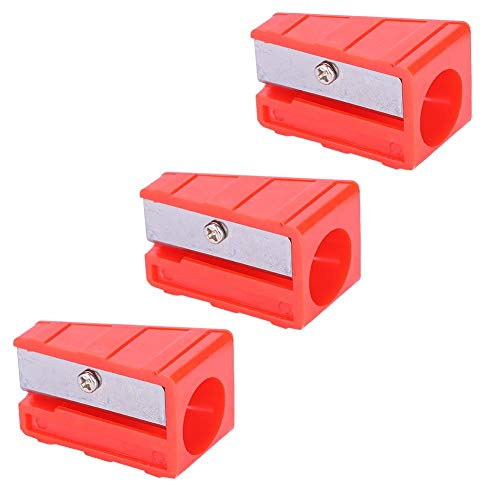 Alomejor 3 Stücke Queue Trimmer Mini Metall Billard Queue Trimmer Shaper Tapper(Rot)