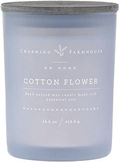 DW Home Candles キャンドル アロマキャンドル COTTON FLOWER ジャーキャンドル 香り14oz(397g)ウッドウィック 燃焼時間約40時間 dwcandles 清潔感ある香りでみずみずしい空間を