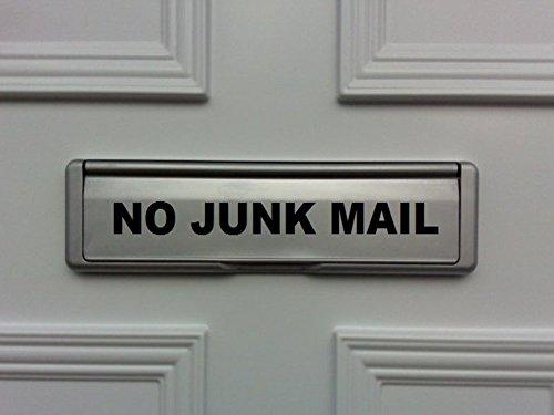 No Junk Mail deur brievenbus Vinyl sticker Voor Shop Office Home Cafe Hotels