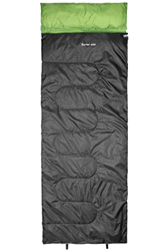 CAMPZ Surfer 400 Schlafsack anthrazit/grün Ausführung Left Zipper 2021 Quechua Schlafsack