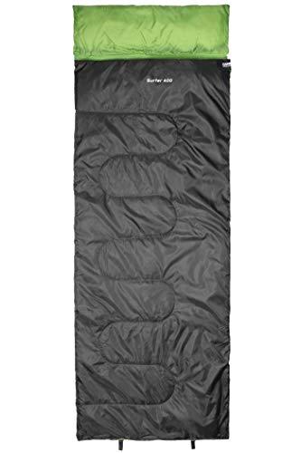 CAMPZ Surfer 400 Schlafsack anthrazit/grün Ausführung Left Zipper 2020 Quechua Schlafsack