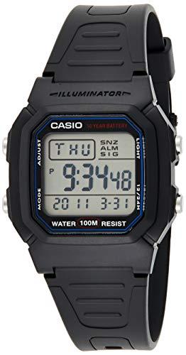 Casio Reloj Digital para Unisex de Automático con Correa en Resina W-800H-1A