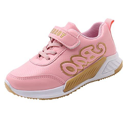 LEXUPE Kinder Baby Freizeitschuhe 21-30, Kinder Warme Jungen Mädchen Sneaker Stiefel(Rosa,27)