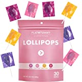 Flat Tummy Lollipops, Pack of 30 – Crush Cravings and Avoid Unwanted Calories - Apple, Grape, Watermelon & Berry – Delicious Low Calorie Diet Candy – Clinically Proven Ingredient