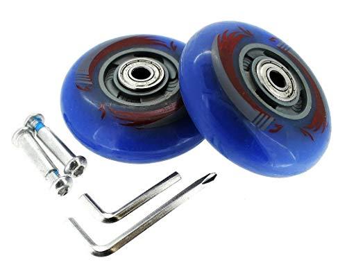Ruedas con luz LED para patines en línea, ruedas iluminadas, ruedas completas, Waveboard ABEC 5-7 (azul)