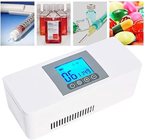 XnalLKJ Refrigerador del Automóvil Mini Insulina Caja Refrigerada, Utilizada para El Almacenamiento En Frío De Insulina/Interferón/Hormona De Crecimiento/Vacuna/Gotas para Los Ojos