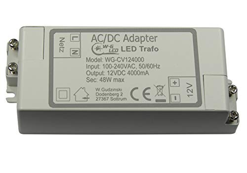LED Trafo|12V DC|48W max|Transformator|Netzteil|4A
