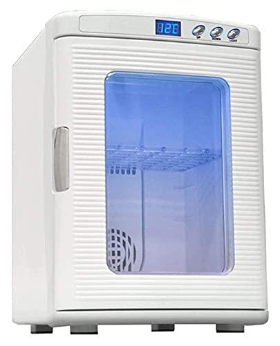 XBR Refrigerador para Acampar, refrigerador pequeño de 25 l para automóvil de 12 V, Mini refrigerador y Calentador refrigerador de una Sola Puerta para el hogar de 220 V (tamaño: 340x435x485 mm)
