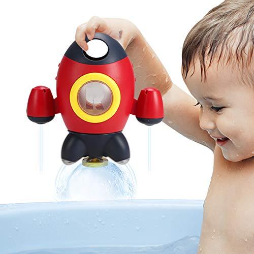 Elovien Baby Bath Toys, Space Rocket Shape Bathtub Toys for Toddlers,...