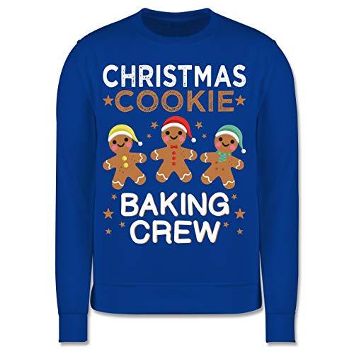 Shirtracer Weihnachten Kind - Christmas Cookie Baking Crew - 3 Kekse - 128 (7/8 Jahre) - Royalblau - Geschenk - JH030K - Kinder Pullover