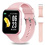 NAIXUES Smartwatch, Orologio Fitness Donna 1,54 Pollici Impermeabile IP68 Smart Watch Bluetooth Cardiofrequenzimetro da Polso Contapassi Calorie Smartband Activity Tracker per Android iOS (Rosa)