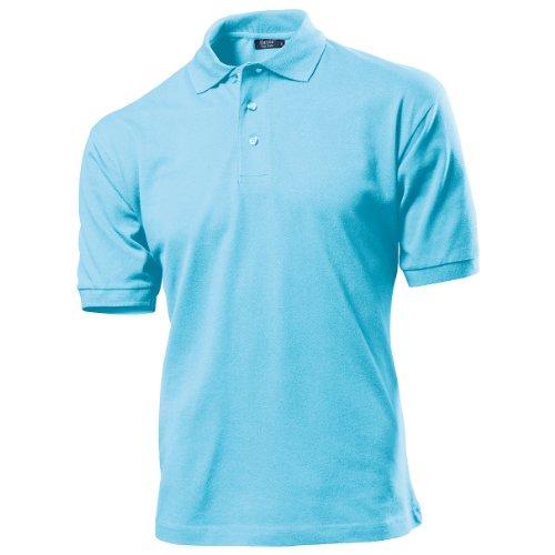 Hanes Herren Polo-Shirt Top-T (Small) (Himmelblau)
