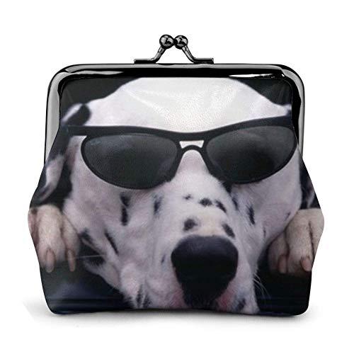 Lawenp Münzgeldbörse Hund mit Brille Brieftasche Schnalle Leder Reise Make-up Geldbörse Frauen Geschenk ändern