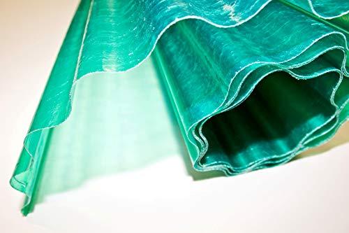 Zambonin Agricoltura Fogli Pretagliati di Vetroresina Ondulata Verde per coperture e protezioni disponibile in varie misure di altezza e lunghezza (5, 300)