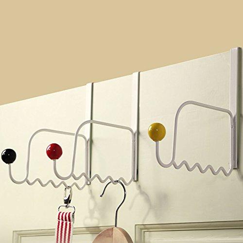 Generic 3-teiliges Set Türgarderobe mit Keramikperlen / multifunktionale Aufhängevorrichtung / Handtuchhalter / Hüte / Taschen / Halter mit Haken