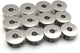 Fbshicung 12Pcs Quilt Machine Metal Bobbins #55623S for Janome 1600P Series, Juki TL Series, Husqvarna Mid Arm Quilting Machines Plus Many Older Rotary Style Machines
