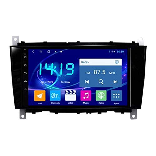 FDGBCF Car Navigation Stereo for Benz C-Class W203 (2004-2007) CLC G Class W467 (2008-2011), 2.5D HD Touch Screen/FM/Bluetooth/WiFi/SWC/Rear View Camera